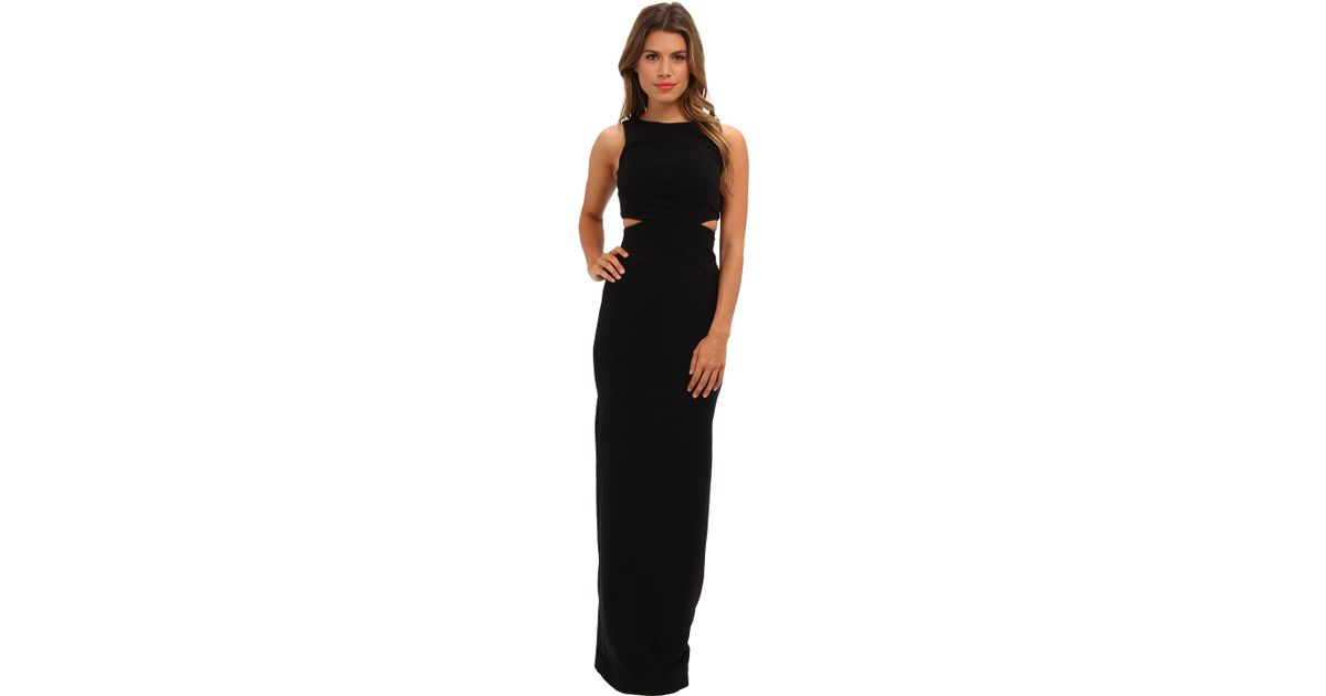Lyst - Nicole Miller Aria Cutout Gown in Black