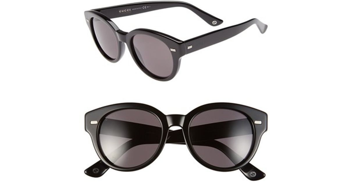 54f7a775793 Lyst - Gucci 50mm Retro Sunglasses in Black