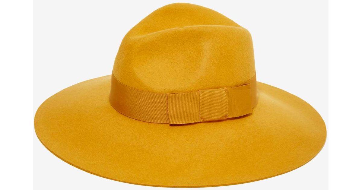 3c6fd6e4 Nasty Gal Brixton Piper Wool Hat - Mustard in Yellow - Lyst
