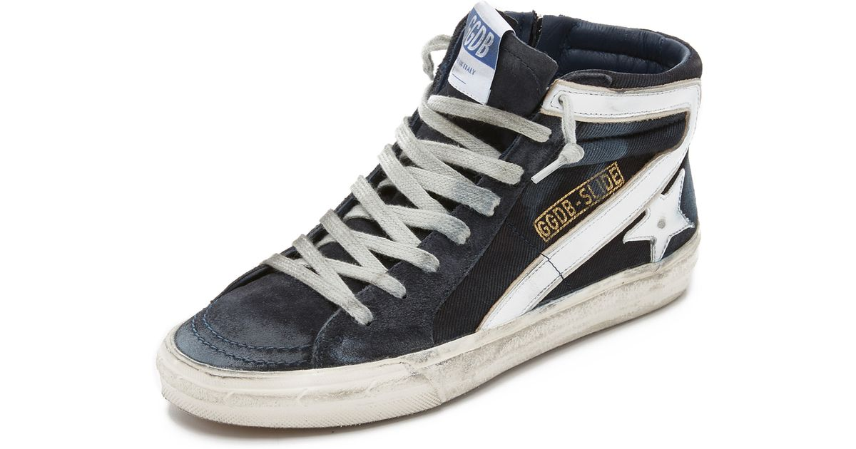 Navy Slide High-Top Sneakers Golden Goose e8P2sSmC