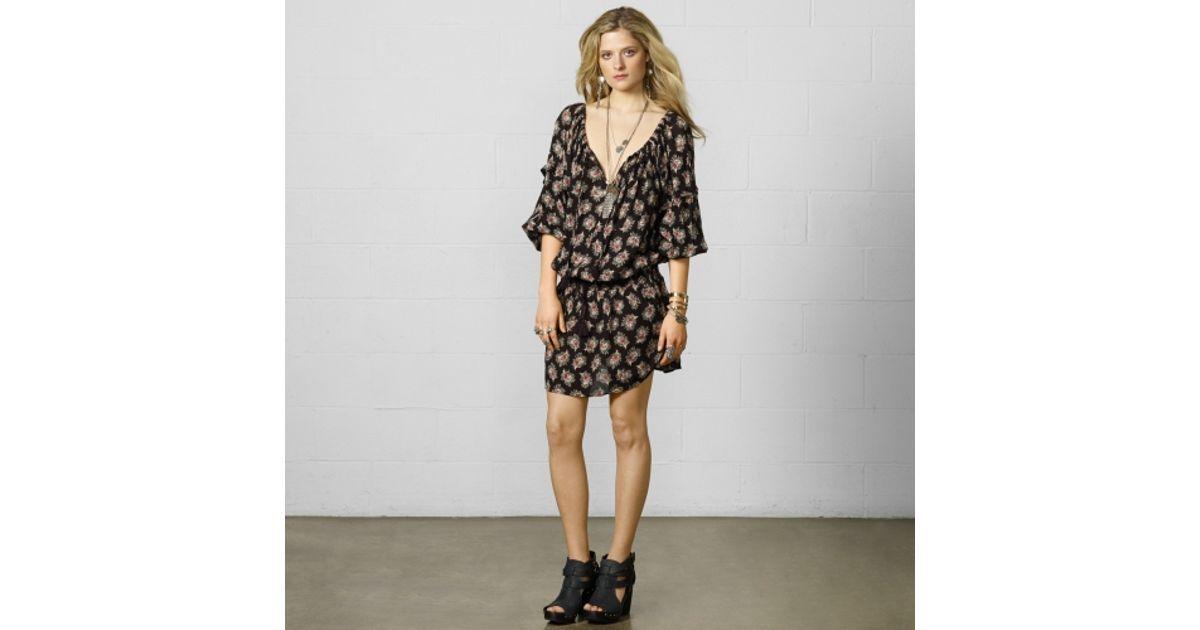 574b3778c8 Lyst - Denim   Supply Ralph Lauren Bohemian Peasant Dress