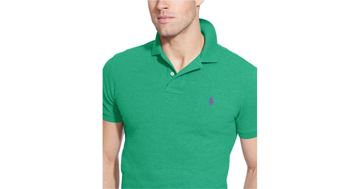 375a53da Polo Ralph Lauren Custom-fit Mesh Polo Shirt in Green for Men - Lyst