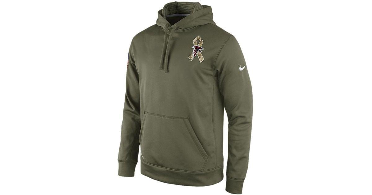 Lyst - Nike Atlanta Falcons Nfl Mens Salute To Service Ko Hoodie in Green  for Men 212d6eede