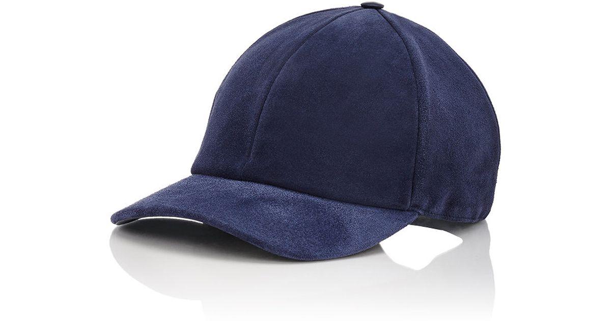 Lyst - Vianel Men s Suede Baseball Cap in Blue for Men 68afc692c08