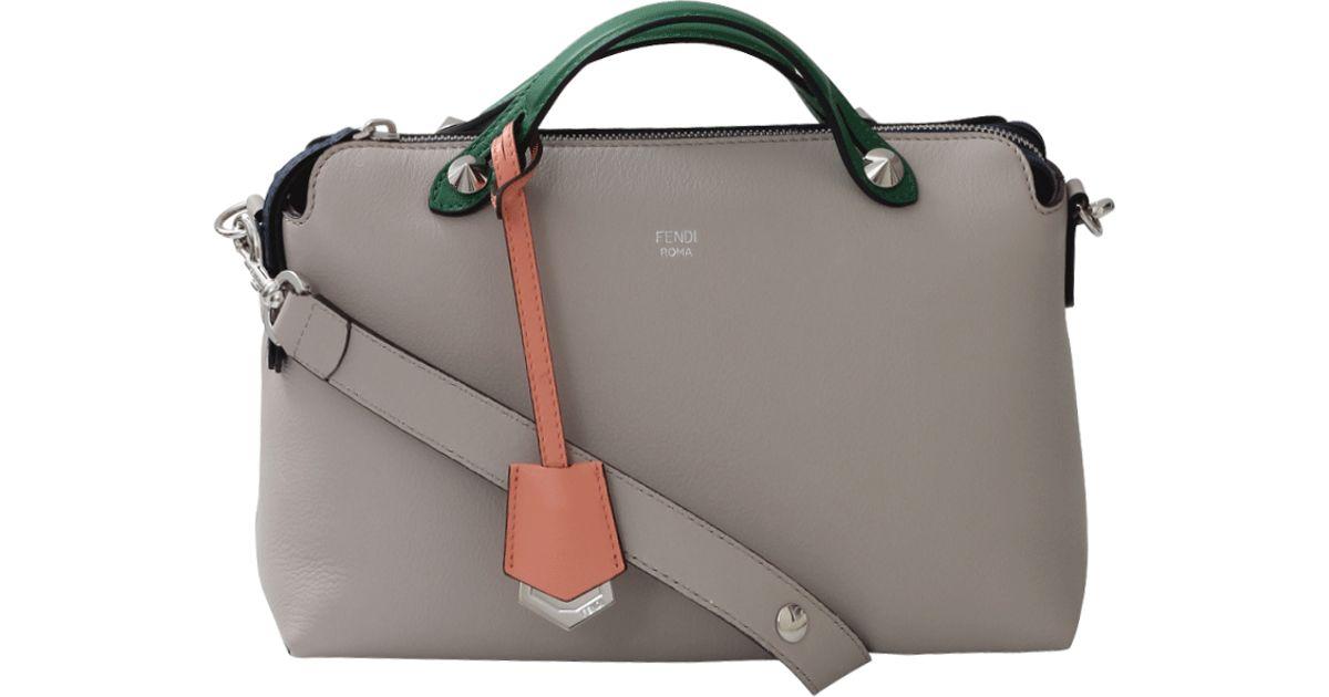 Lyst - Fendi By The Way Small Boston Bag in Gray 00f8e9ebc7313