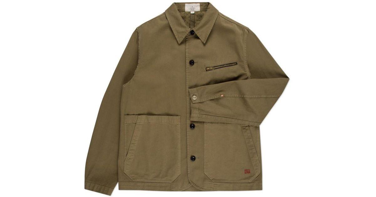 Paul Smith Men S Olive Green Cotton Twill Workwear Jacket