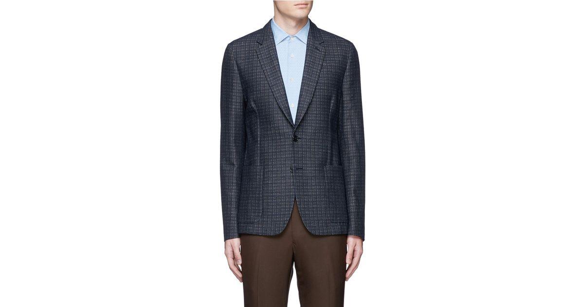 9b99a8c8dd24 Paul Smith 'soho' Woven Check Cotton-linen Soft Blazer in Orange for Men -  Lyst