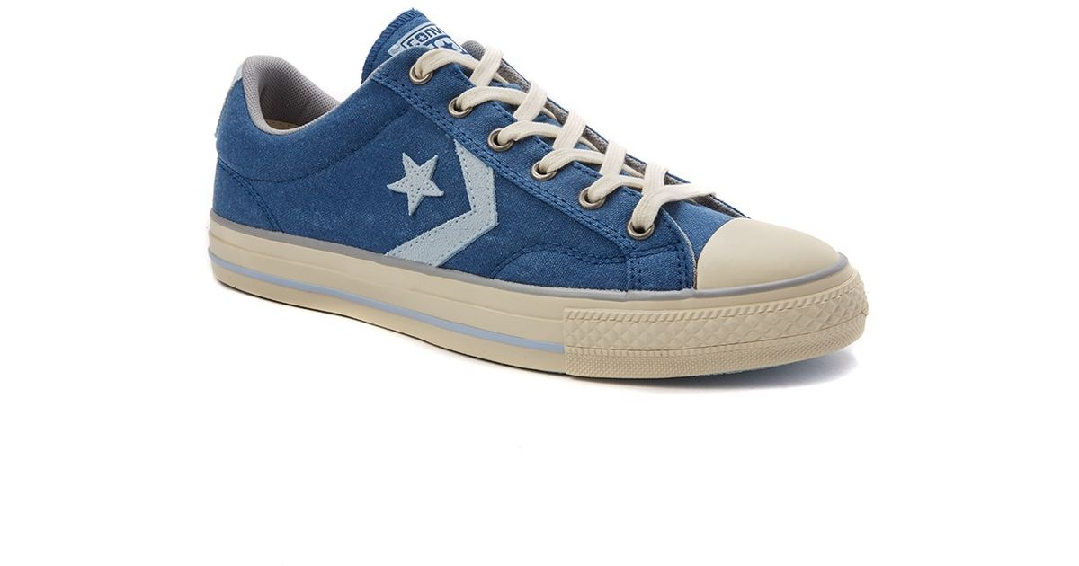 44d5776cd5523b Lyst - Converse Cons Star Player Plimsolls In Washed Canvas in Blue for Men