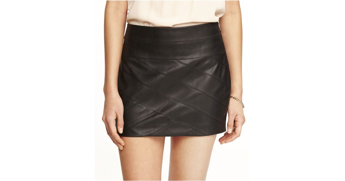 c004c168f Express Minus The Leather Bandage Mini Skirt in Black - Lyst