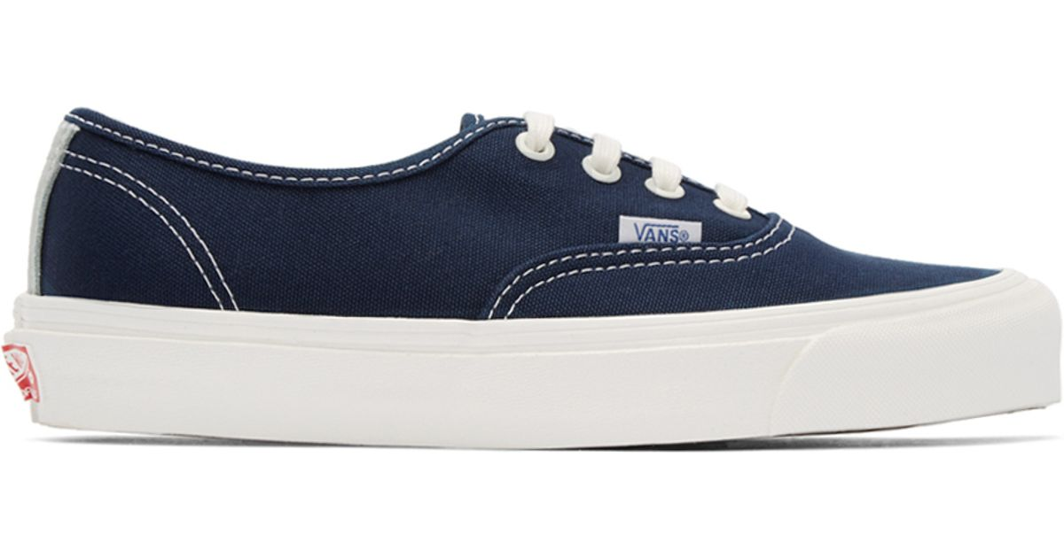Vans Navy Canvas Og Authentic Lx Sneakers in Blue for Men - Lyst bf6f37167