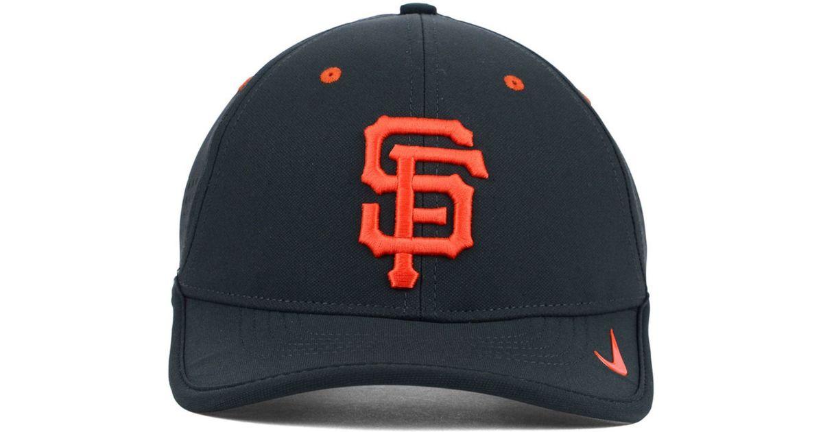 size 40 e6fb2 18712 Nike San Francisco Giants Vapor Swoosh Adjustable Cap in Gray for Men - Lyst