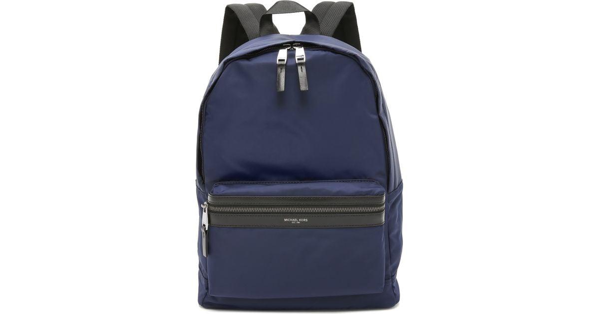 ca30786e911b ... get lyst michael kors kent nylon backpack in blue for men 0dbb3 ddf8a