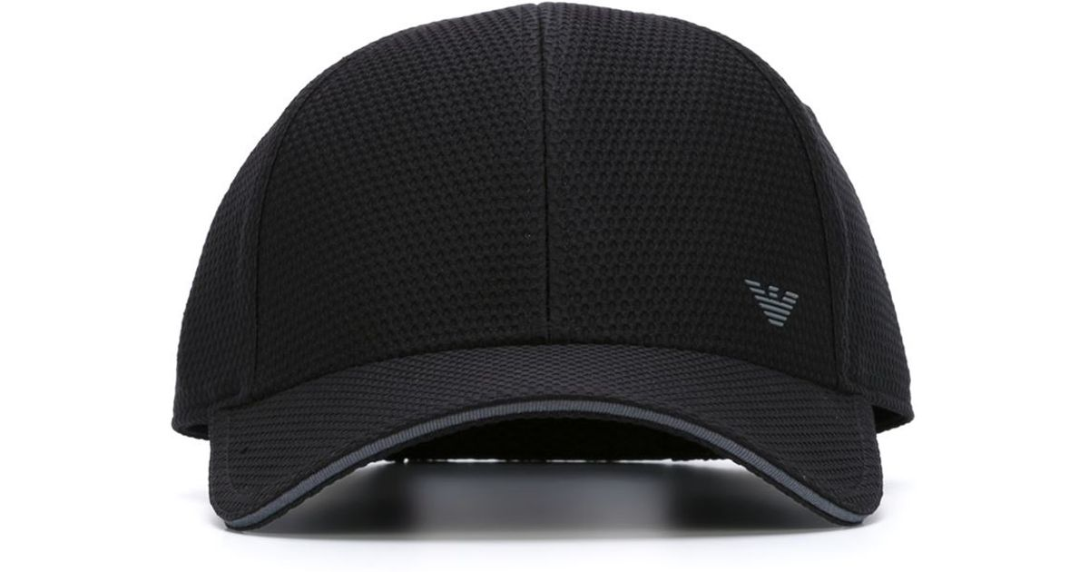 f7be053e Emporio Armani Logo Baseball Cap in Black for Men - Lyst