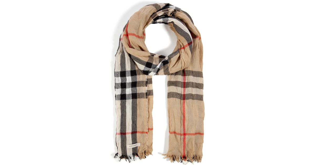 5b45da5d3e2 sweden burberry london crinkled check scarf sale 073a5 3d852