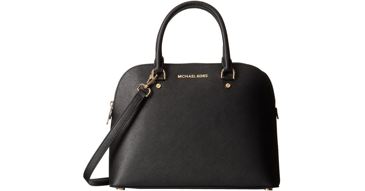 ca68f1a7d7 ... cheap lyst michael michael kors cindy large dome satchel in black 24afe  94264