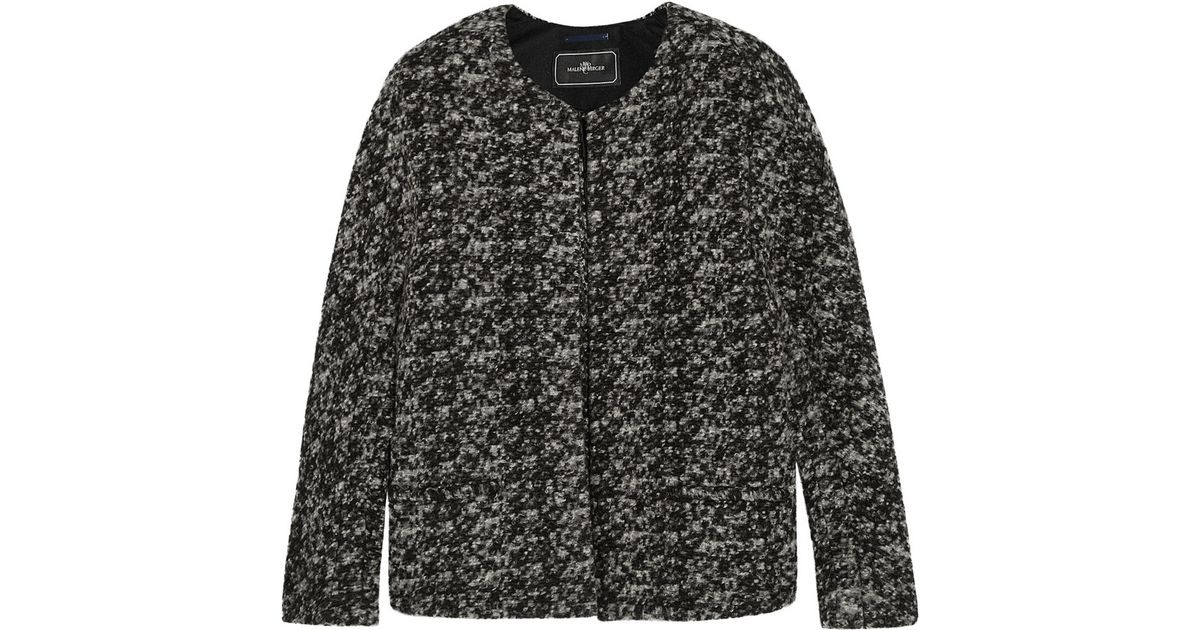 8ac922b0 By Malene Birger Pelagia Bouclé-tweed Jacket in Gray - Lyst