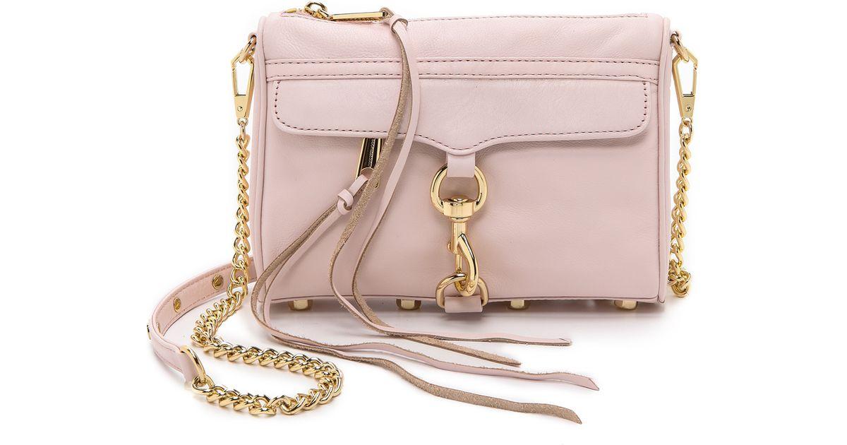 Lyst - Rebecca Minkoff Mini Mac Bag with Pale Gold Hardware - Pale ...