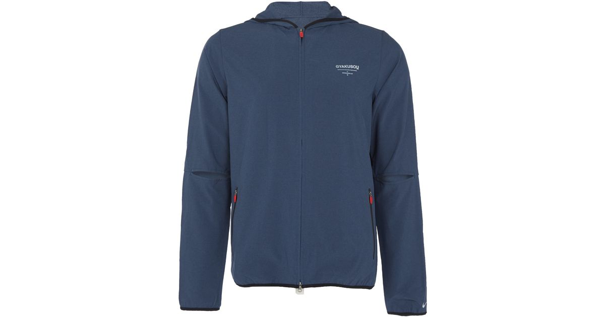 5d93429872 Lyst - Nike Charcoal Gyakusou Stretch Running Jacket in Gray