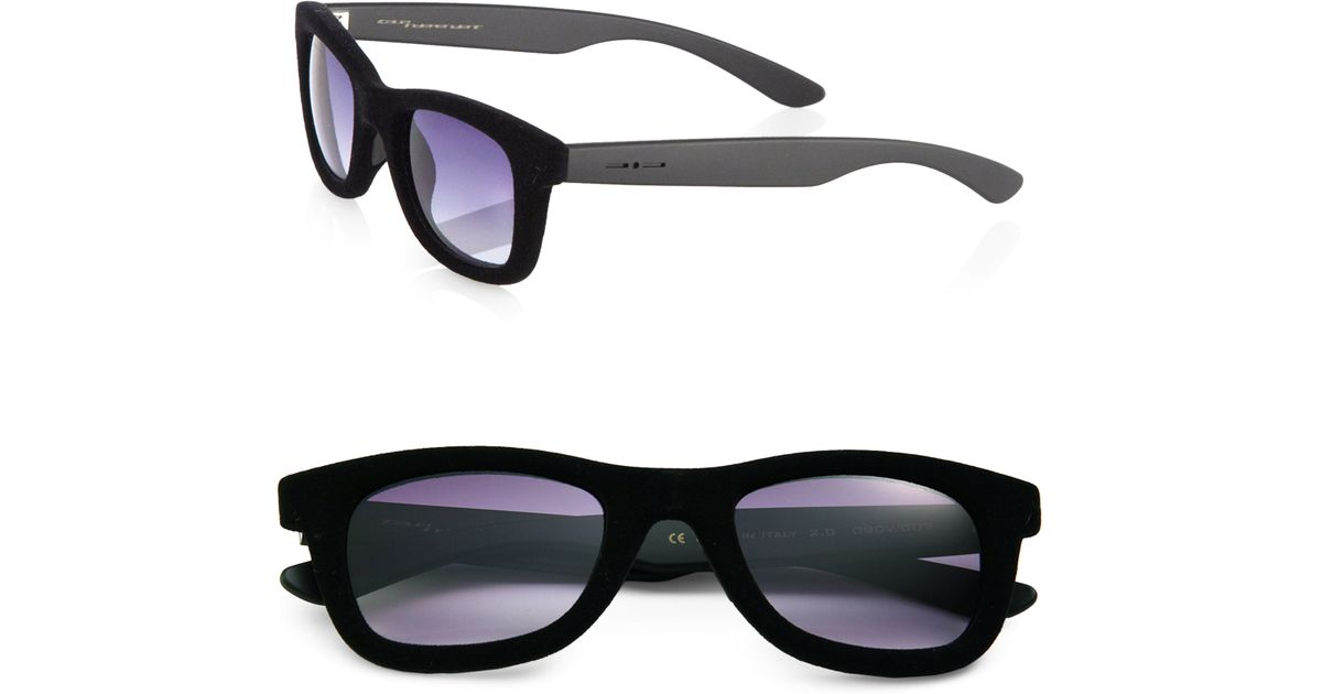 4178bec0ab60 Italia Independent Square Velvet Frame Sunglasses in Black for Men - Lyst