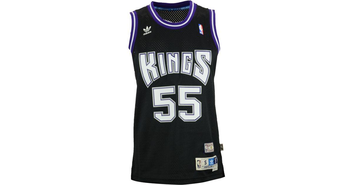 24abac269 Lyst - adidas Men s Jason Williams Sacramento Kings Swingman Jersey in Black  for Men