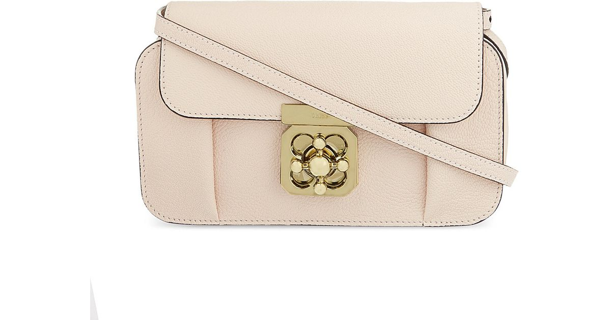 4d0be65342 Chloé Elsie Camera Bag Wstrap Cement Pink in Pink - Lyst