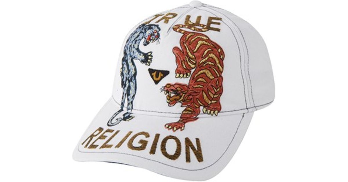 b0743536f00 Lyst - True Religion  panther Tiger  Baseball Cap in White for Men