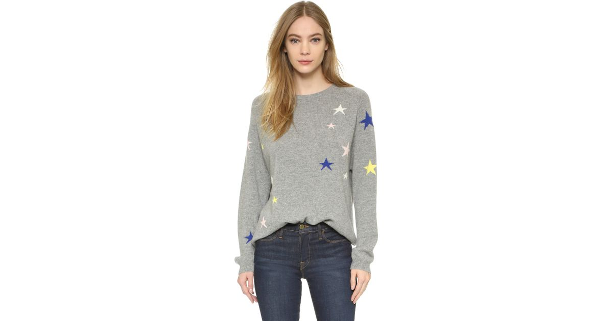 e1ef2fca52 Lyst - Chinti   Parker Slouchy Star Cashmere Sweater in Gray