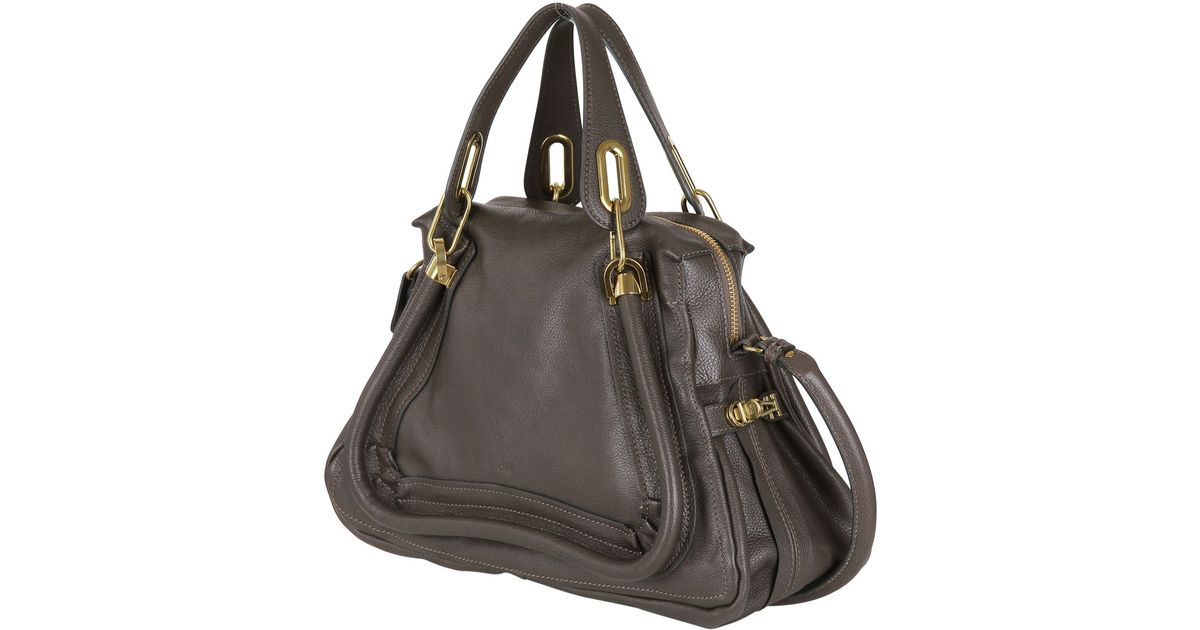 Chlo�� Medium Paraty Grained Leather Bag in Gray (ROCK)   Lyst