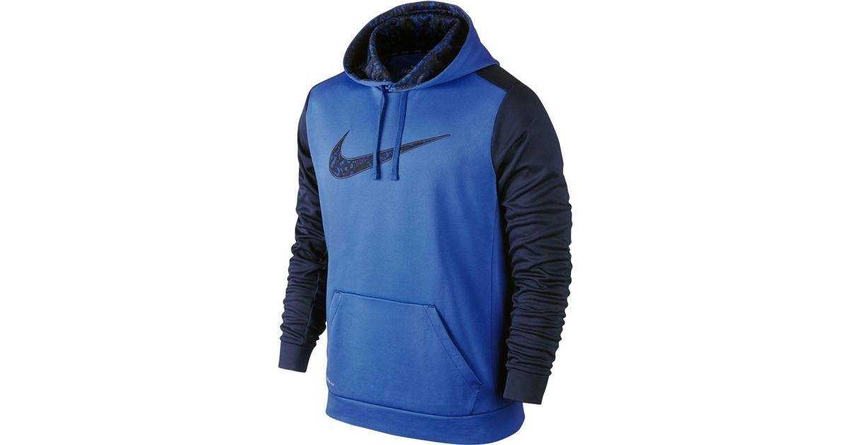 nike men 39 s ko wetland camo pullover hoodie in blue for men. Black Bedroom Furniture Sets. Home Design Ideas