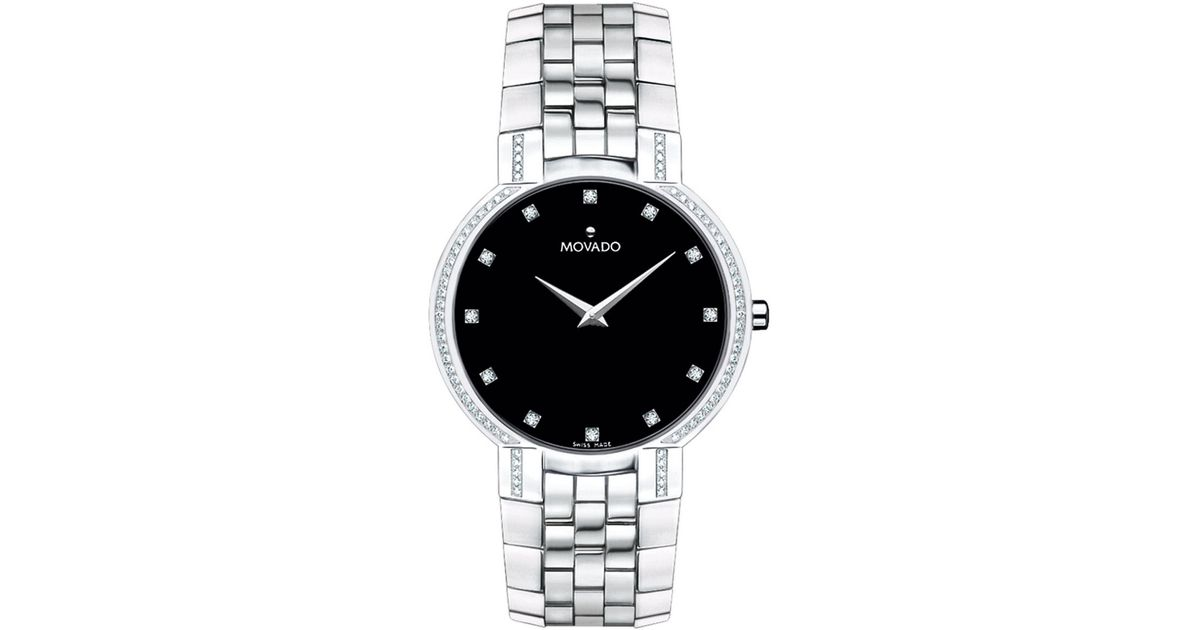Movado Faceto Womens Diamond Watch