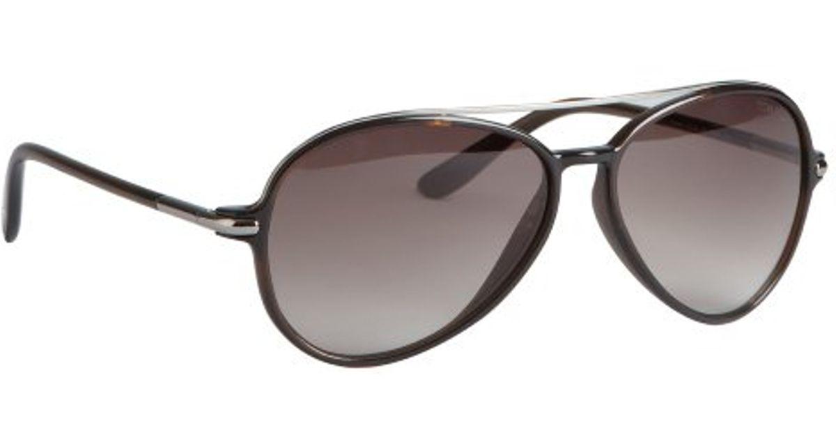 2db880b81ba8 Lyst - Tom Ford Brown Acrylic Ramone Aviator Sunglasses in Brown for Men