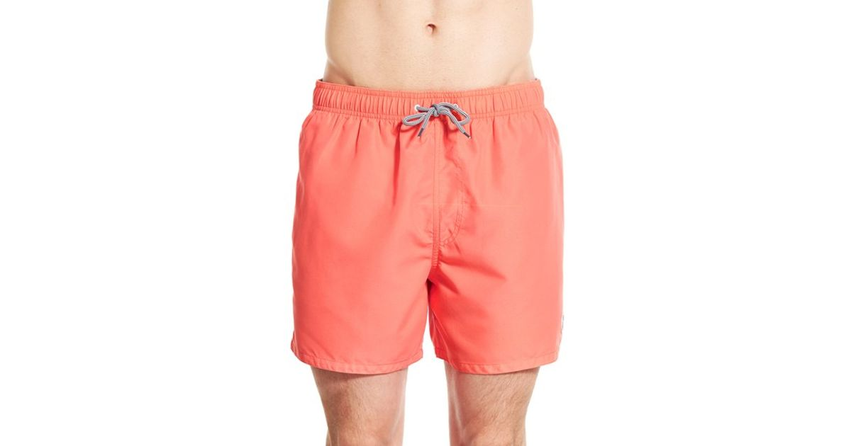 8030d1bb0673 Lyst - Ted Baker  sharsho  Drawstring Swim Trunks in Orange for Men