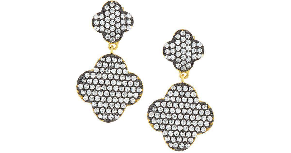 Freida Rothman Pavé Disc Drop Earrings HIjpXdEOP