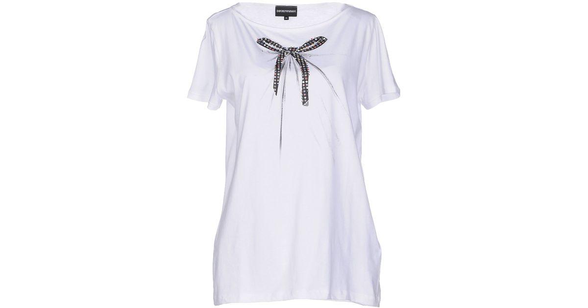 emporio armani t shirt in white lyst. Black Bedroom Furniture Sets. Home Design Ideas