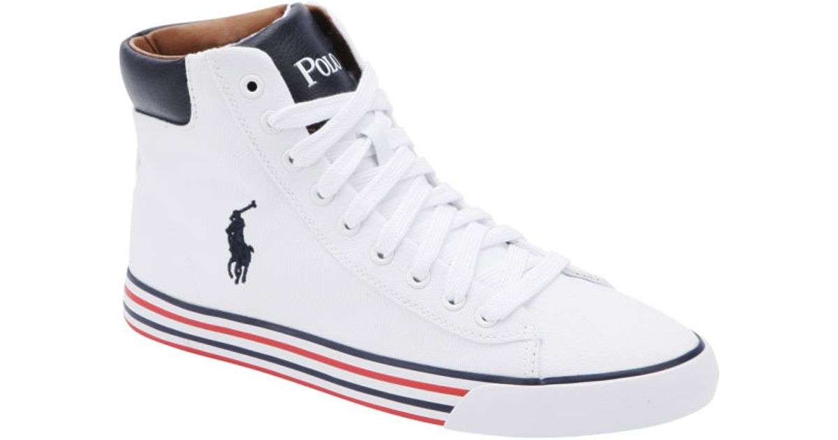 Polo Ralph Lauren Men S Harvey Midne Hitop Trainers In