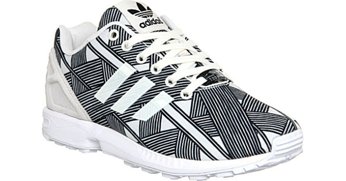 b03a728a8 adidas Zx Flux Patterned Trainers - For Women in Black - Lyst