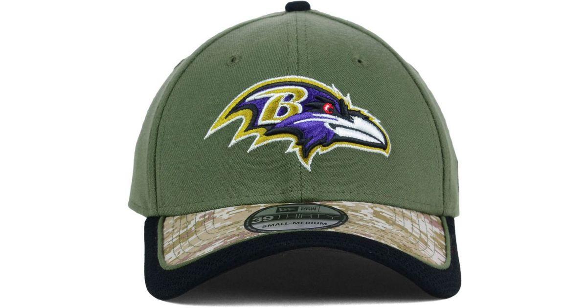 best website a57b3 bb553 KTZ Baltimore Ravens Salute To Service 39thirty Cap in Green for Men - Lyst