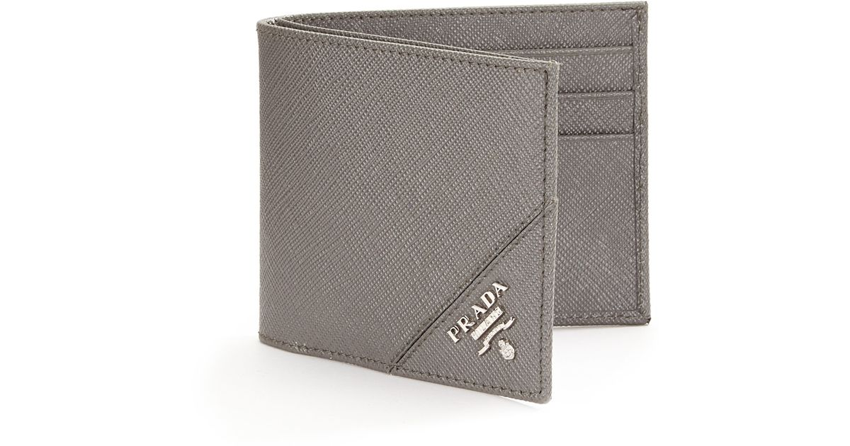 Prada Orizzontale Wallet in Gray for Men (grey) | Lyst