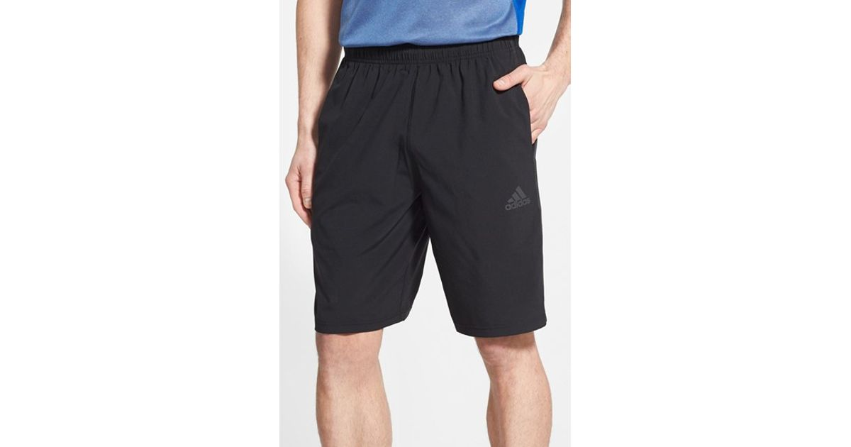 Black Woven Men For Adidas Shorts Lyst 'climacore' rQCxtshd