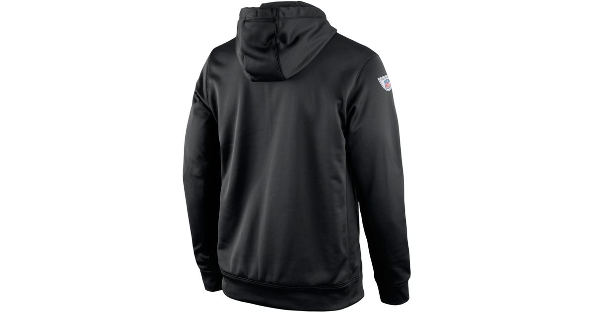 Top Nike Men's Oakland Raiders Performance Po Dri fit Hoodie in Black  free shipping
