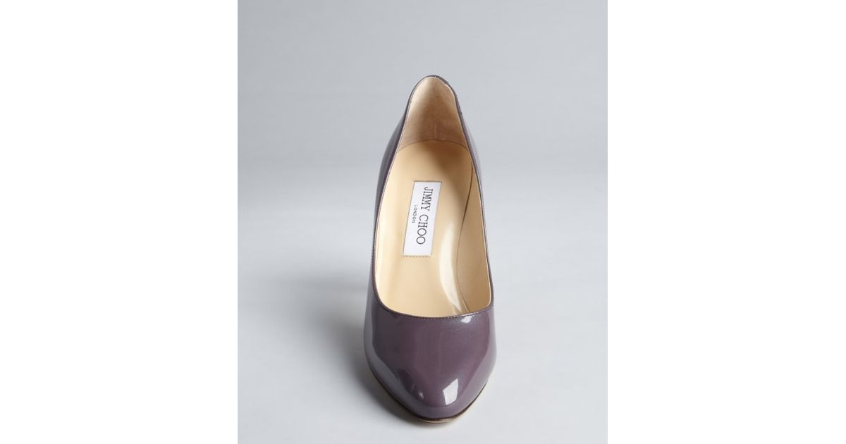 484153a3256 Jimmy Choo Steel Lavender Patent Eather Tapered Round Toe  Vikki  Pumps in  Purple - Lyst