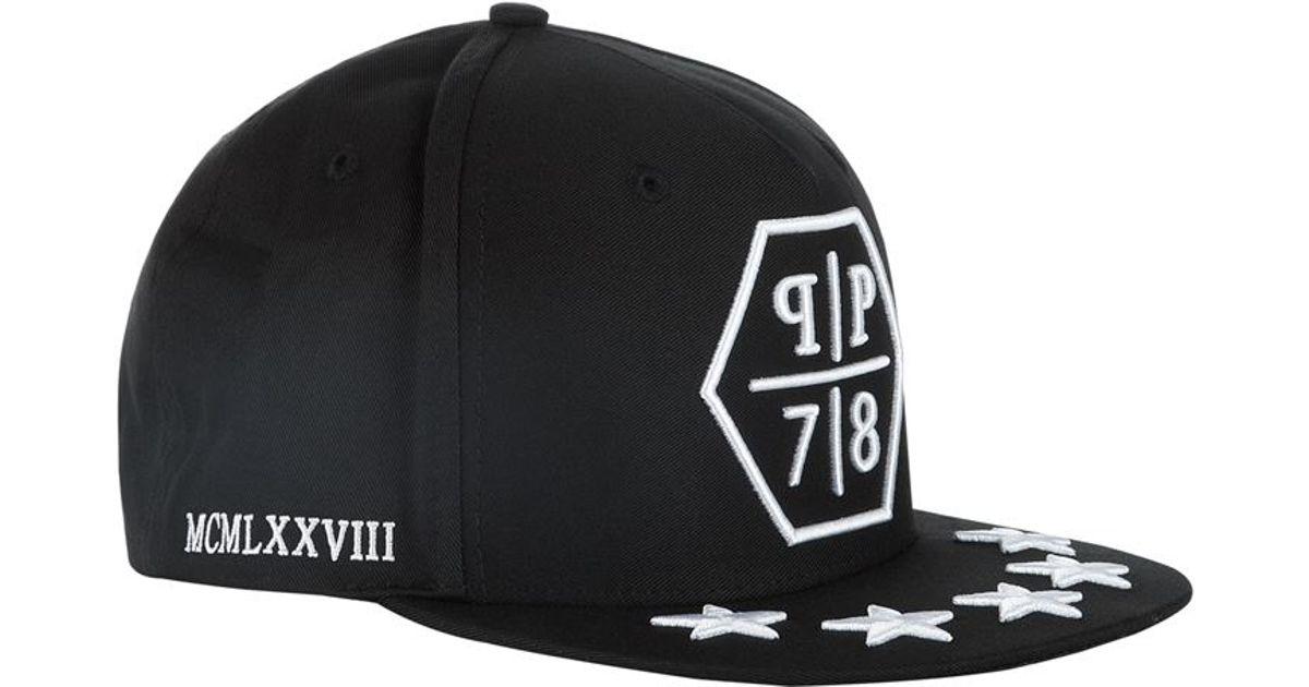 6268e416606 Philipp Plein Pp78 Stars Snapback Hat in Black for Men - Lyst