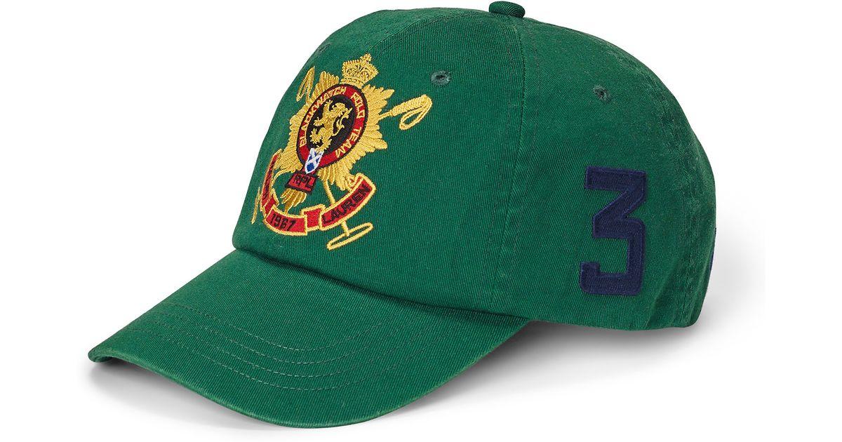 Lyst - Polo Ralph Lauren Blackwatch Cotton Baseball Cap in Green for Men 5b20415b4cd7