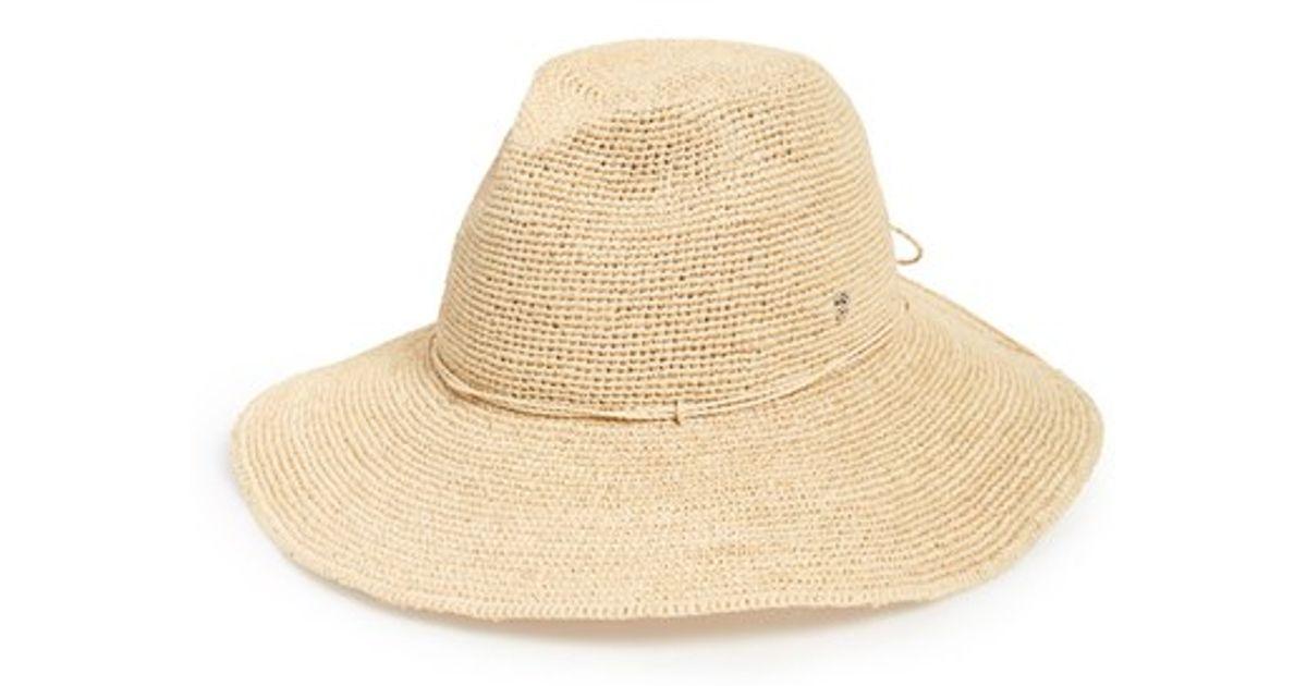 06757bcd2205e Lyst - Helen Kaminski Raffia Crochet Packable Sun Hat in Natural