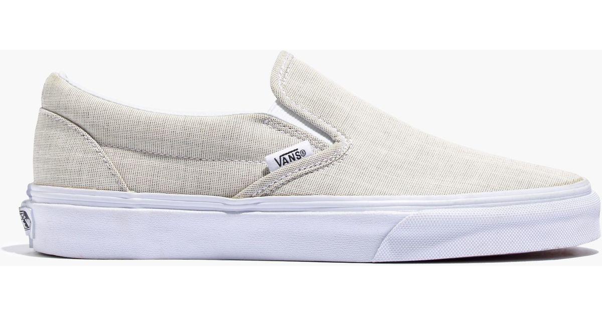 Madewell Vans 174 Linen Slip On Sneakers In Green For Men Lyst
