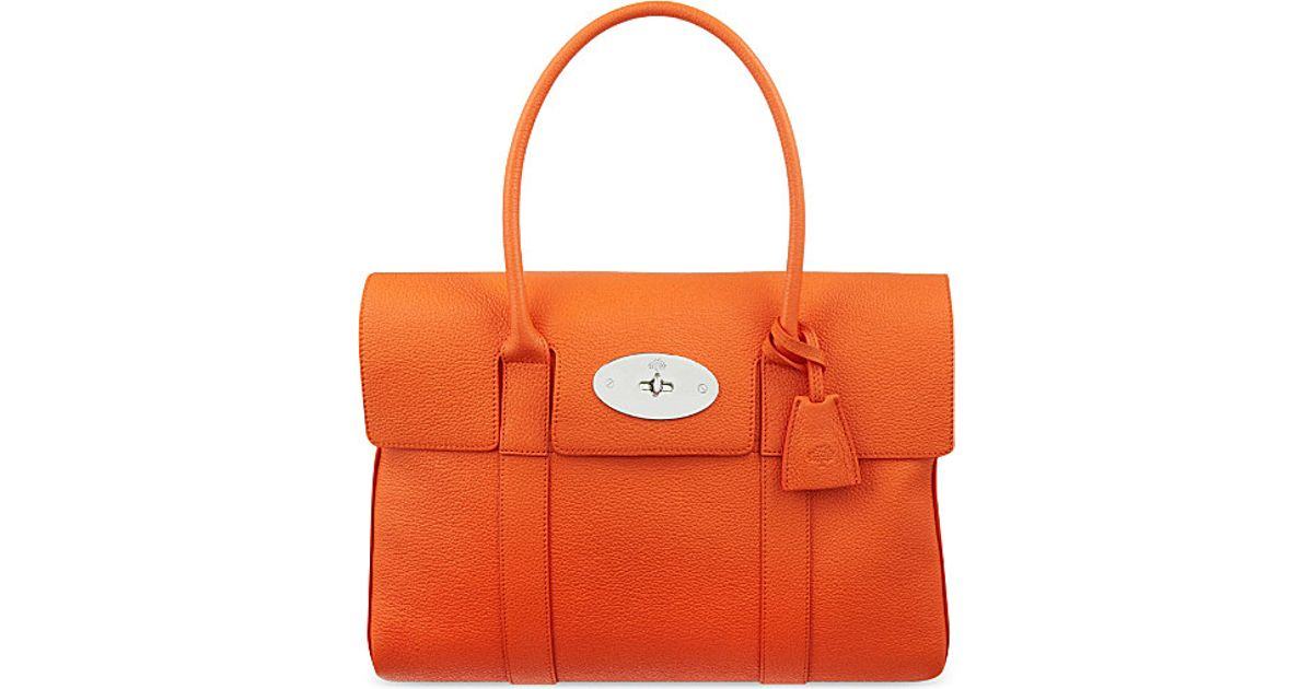 6a97af9006 ... where to buy mulberry bayswater bag for women in orange lyst 9e428 e13a1