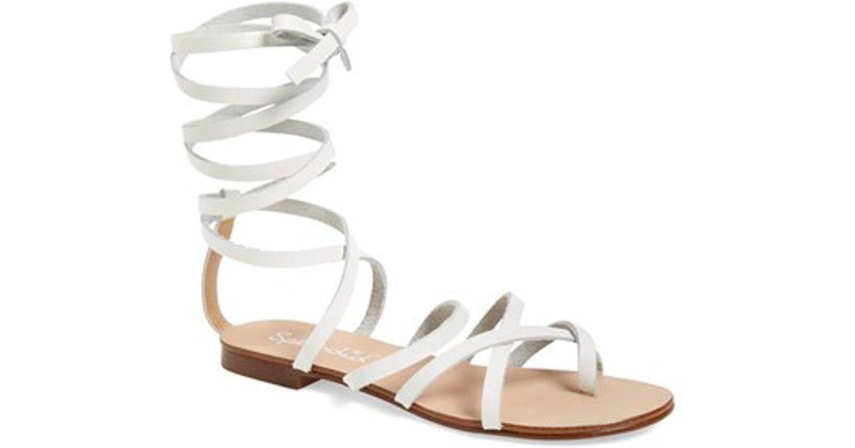 e4826b766 Lyst - Splendid  carly  Ankle Strap Sandal in White