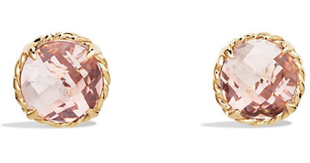 david yurman earrings sale david yurman chatelaine earrings with morganite in 18k 8227