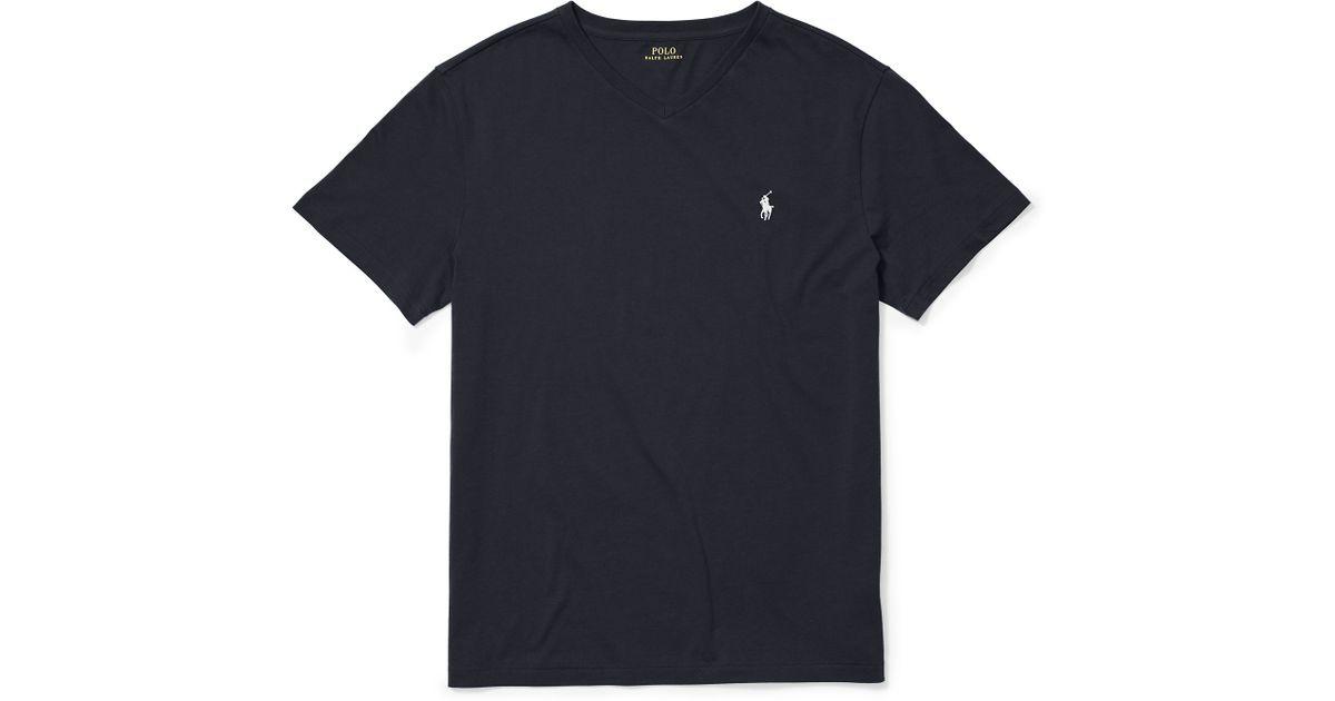 e52a3c82e54da Lyst - Polo Ralph Lauren Cotton Jersey V-neck T-shirt in Black