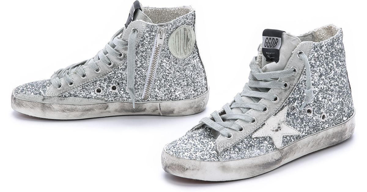 Golden Goose Silver Francy High Sneakers Cheap Manchester Great Sale n4cW4